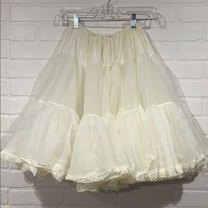 Off-White tea length crinoline petticoat pinup